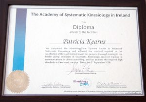 Patricia Kearns - Diploma in Advanced Systematic Kinesiology