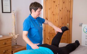 Patricia at Sligo Kinesiology muscle testing